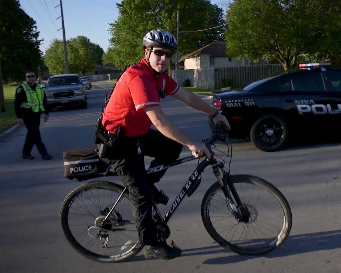 BICYCLE PATROL WORKING AN EVENT