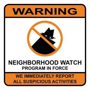 POLICE NEIGHBORHOOD WATCH SIGN