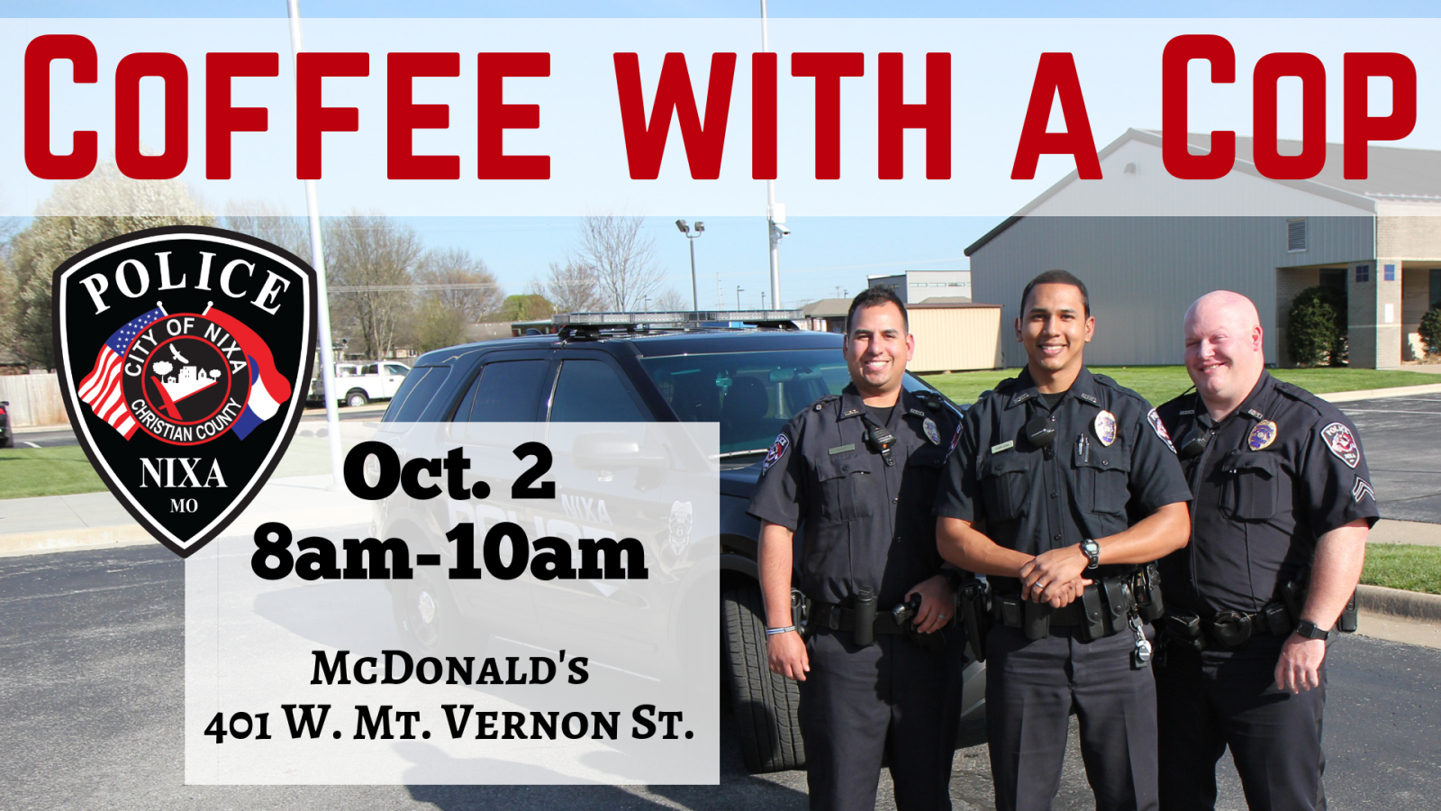 2019 Oct 2 Coffee with a cop 16x9