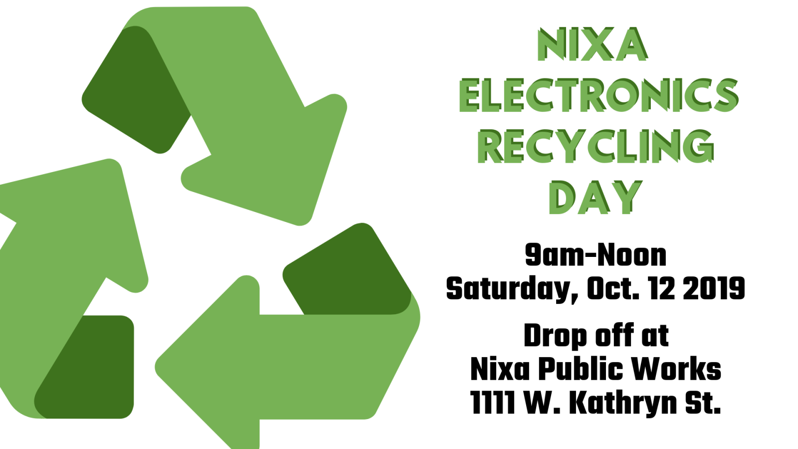2019 Electronics Recycling Day 16x9