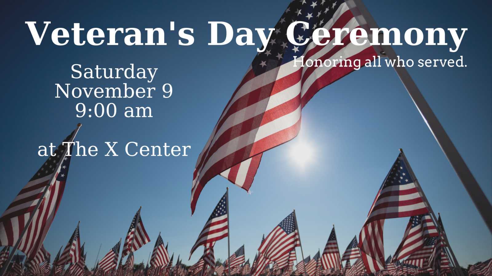 2019 Veteran's Day Ceremony 16x9